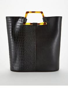 V by Very Jasper Tort Handle Panel Tote Bag e037fbde0