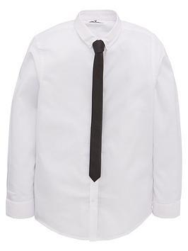 V by Very V By Very Smart Shirt &Amp; Tie Set - White/Black Picture