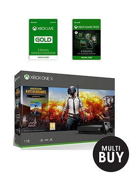 xbox-one-x-xbox-one-x-playerunknown039s-battlegrounds-bundle-6-months-games-pass-and-xbox-live-gold-membership-3-months