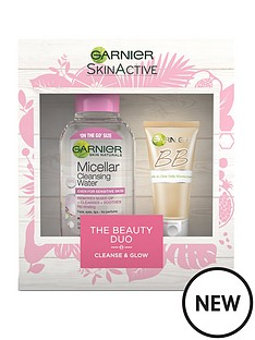 garnier-garnier-skinactive-the-cleanse-and-glow-beauty-duo-christmas-gift-set-for-her