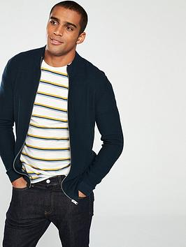 selected-homme-tim-zipped-cardigan-navy