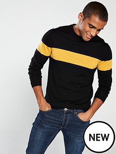 selected-homme-merino-wool-knitted-pullover-black