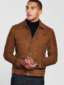 selected-homme-patch-pocket-nubuck-jacket-tan