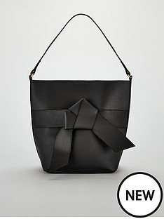 dd0374e3a5 V by Very Jude Knot Front Bucket Bag - Black