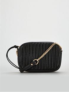 fb13a26e11d2b7 V by Very Panda Weave Panel Crossbody Bag