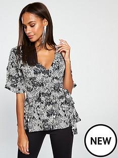v-by-very-snake-wrap-blouse-printednbsp