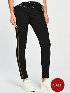 barbour-international-striped-gold-zipper-track-trousers-black