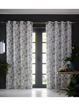 Oasis Home Oasis Home Bailey Eyelet Curtains &Ndash; Blue Picture