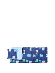 highland-trail-single-printed-sleeping-bag-with-pillow