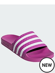 3aab4a77f0ab adidas Originals Adilette - Pink White