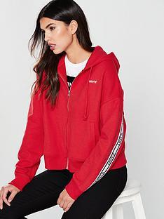 levis-logo-trim-zipper-hood-jacket-red