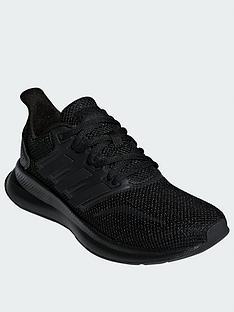 adidas-falcon-junior-trainers-black