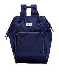 joules-navy-frame-top-backpack