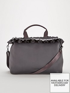 ted-baker-ruffle-detail-large-tote-bag-charcoalnbsp