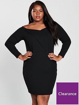 v-by-very-curve-jersey-bardot-bodyconnbspdress-black