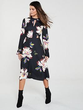v-by-very-graphic-floral-midi-print