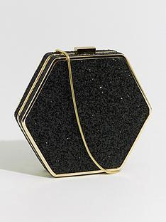 warehouse-hexagon-metal-frame-glitternbspcrossbody