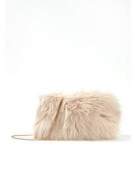 miss-selfridge-faux-fur-shoulder-bag