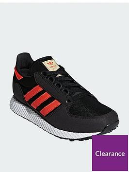 adidas-originals-forest-grove-junior-trainers-blackorange