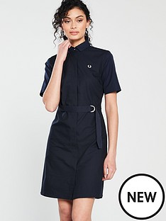 fred-perry-belted-shirt-dress