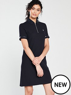 fred-perry-zip-neck-pique-dress