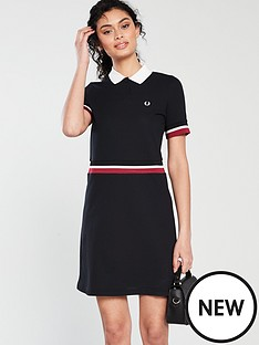 fred-perry-bold-tipped-pique-dress