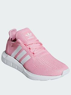 new style 87ba7 753a1 adidas Originals Swift Run Junior Trainers - Pink