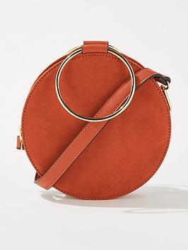 miss-selfridge-metal-circle-crossbody-bag-rust