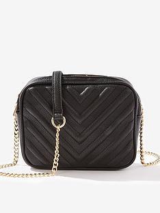 a83663823480 Miss Selfridge Quilted Crossbody Bag - Black