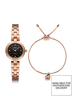 rotary-diamond-dial-rose-gold-stainless-steel-ladies-watch-and-rose-gold-plated-sterling-silver-bracelet-gift-set