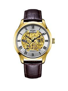rotary-greenwich-gold-skeleton-dial-brown-leather-strap-mens-watch
