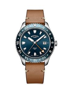 rotary-rotary-henley-blue-dial-brown-leather-strap-mens-watch