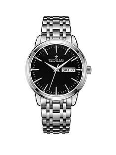 dreyfuss-co-1890-black-day-date-dial-stainless-steel-bracelet-mens-watch