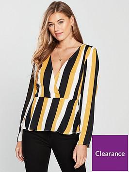 v-by-very-deep-v-peplum-top-stripe
