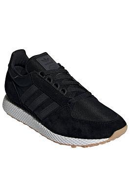 low priced 5c133 91ae4 adidas Originals Forest Grove Trainers - Black