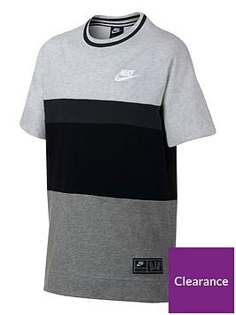 nike-boys-air-short-sleeve-t-shirt-blackgrey