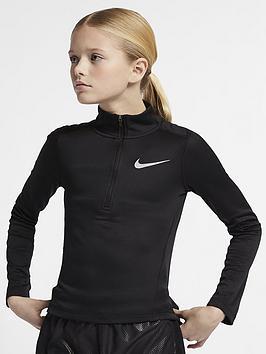 Nike Nike Girls Long Sleeve Running Top - Black Picture
