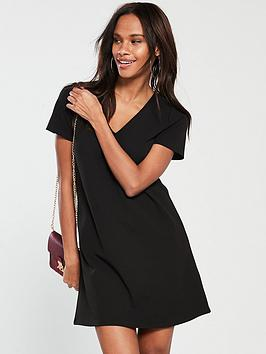 V by Very V By Very Crepe Swing Dress - Black Picture