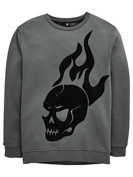 v-by-very-flocked-skull-flame-halloween-sweat-shirt
