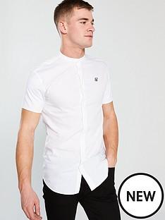 sik-silk-grandad-collar-roll-sleeve