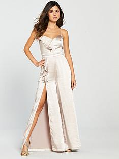 the-girl-code-the-girl-code-asymmetric-frill-and-split-satin-jumpsuit