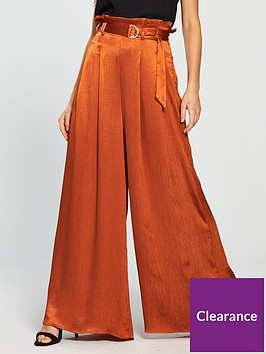 the-girl-code-crinkle-satin-wide-leg-paperbag-trousers-rust