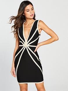 the-girl-code-the-girl-code-plunge-contour-bandage-dress