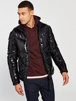 river-island-black-wet-look-padded-coat