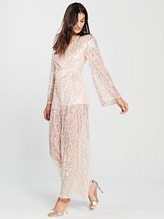 the-girl-code-sheer-wide-sleeve-sequin-jumpsuit-blush