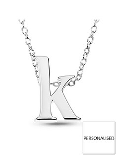 the-love-silver-collection-sterling-silver-personalised-block-initial-pendant-necklace