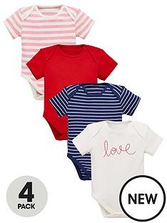 mini-v-by-very-baby-girls-4-pack-short-sleeved-bodysuits-multi-coloured