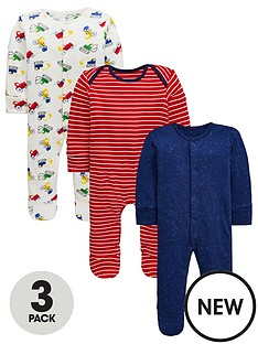 mini-v-by-very-baby-boys-3-pack-stripe-truck-print-sleepsuits