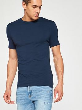 River Island River Island Short Sleeve Muscle Tee - Navy Picture