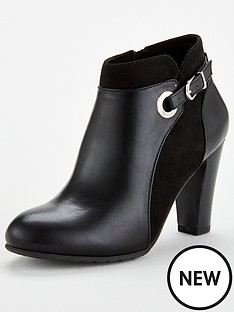 wallis-abra-mix-material-eyelet-and-buckle-boot-black